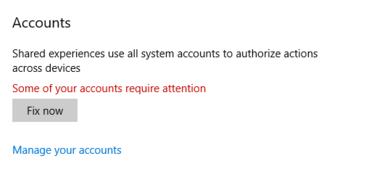 Accounts Fix Now