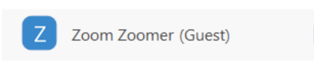 Zoom Zoomer (Guest) with a faint highlight
